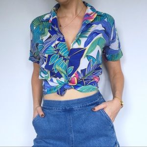 Vintage Tropical Button Up by Gallery limited